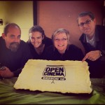 Photo of the OPEN CINEMA team Kirk Schwartz, Catlin Lewis, Mandy Leith, Peter Sandmark