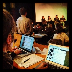 The post-screening discussion being tweeted