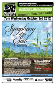 poster for OPEN CINEMA Season 10 launch 'Symphony of the Soil'