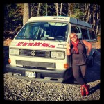 photo of Mandy and the Doc Bus in Chester Nova Scotia.