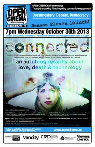 poster for OPEN CINEMA's Oct 30 screening of CONNECTED