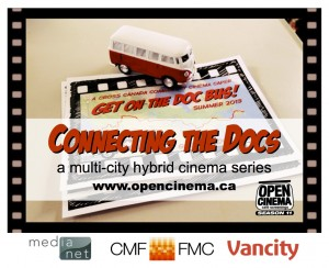 graphic for Connecting the Docs, sponsored by MediaNet, Canada Media Fund and Vancity