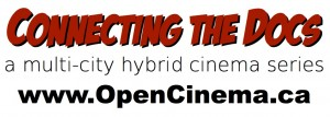 logo for OPEN CINEMA's 'Connecting the Docs' hybrid cinema series