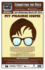 poster for My Prairie Home screenings in Victoria & Calgary March 26, 2014