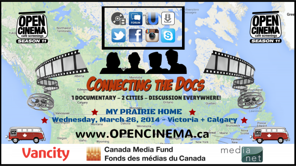 graphic for OPEN CINEMA Connecting the Docs 'My Prairie Home'