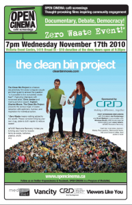 OPEN CINEMA Clean Bin Project poster
