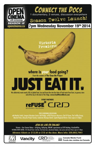 poster for the Victoria premiere of Just Eat It November 19, 2014
