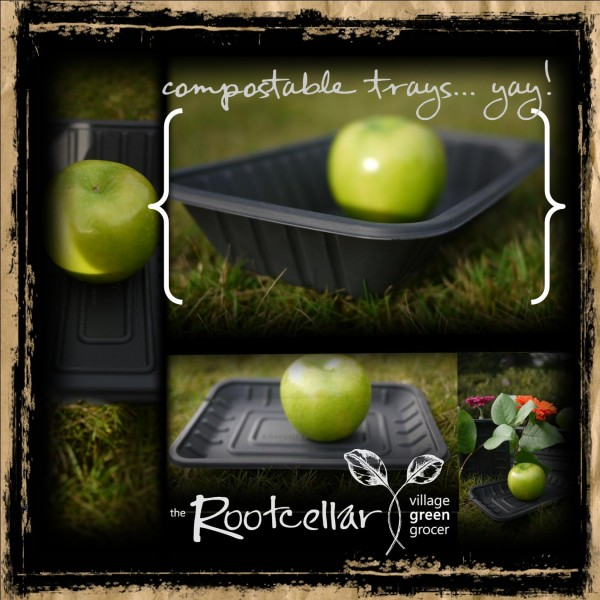 The Root Cellar promo for recycled food trays