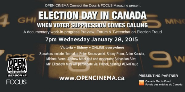 banner for ELECTION DAY IN CANADA #ElxnFraud January 28, 2015